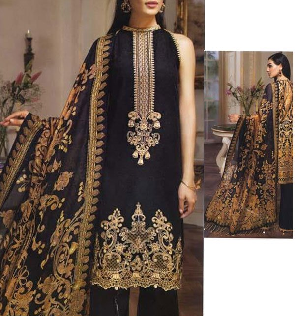 Khaddar Neck Embroidery Suit With Wool Dupatta (KD-40) (UnStitched) Price in Pakistan