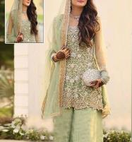 Net Bridal Embroidery Suit 2019 (CHI-221) (Unstitched) Price in Pakistan