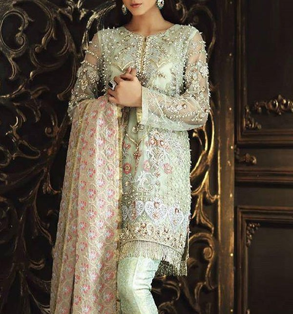 Net Embroidery Suit With Net Embroidery Duppata (CHI-267) (Unstitched) Price in Pakistan