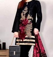 Velvet Embroidery 2PC Suit Jamawar Trouser (UnStitched) (CHI-310) Price in Pakistan