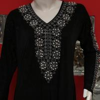 Jersey Abaya Pearls Work With Scarf 2020 (AB-54) Price in Pakistan