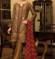 New Collection Chiffon Embroidery Suit With Chiffon Embroidery Duppata (CHI-271) (Unstitched) Price in Pakistan