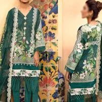 Heavy Embroidered Lawn Suit with Lawn Dupatta  - (DRL-432) (UnStitched) Price in Pakistan