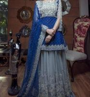 Heavy Chiffon Embroidered Suit With Net Embroidered Dupatta (CHI-189) Price in Pakistan