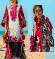 New Lawn Collection 2020 With Chiffon Duppata UnStitched (DRL-605) Price in Pakistan