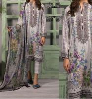 New Lawn  Embroidered  Dress With Chiffon Duppata  UnStitched (DRL-643) Price in Pakistan