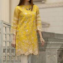 Full Embroidered Chiffon Kurti With Inner (EK-121) Price in Pakistan