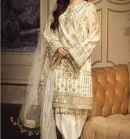 New LUXURY LAWN Suit 2020 With Net Heavy Embroidered Dupatta UnStitched (DRL-615) Price in Pakistan