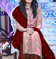 New Masoori Embroidered Dress with Jamawar Trouser (Unstitched) (CHI-346) Price in Pakistan