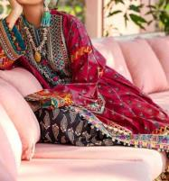 New Neck Embroidery Lawn Suit for Women - (DRL-499) Price in Pakistan
