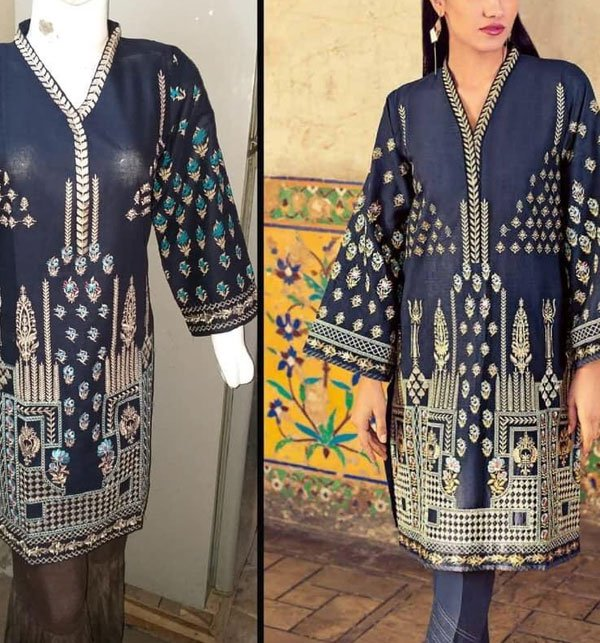 Full Front Heavy Embroidered Kurti (Stitched) Price in Pakistan