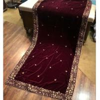 Velvet Shawl Heavy Embroidery 2020 For Women - Traditional Clothing Price in Pakistan