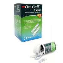 On Call Extra Pack of 50 Blood Glucose Strips Price in Pakistan
