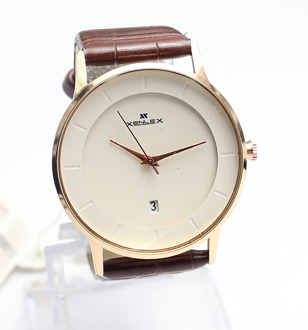 Original Xenlex Latest Design Leather Straps Analog Watch (CW-103) Price in Pakistan