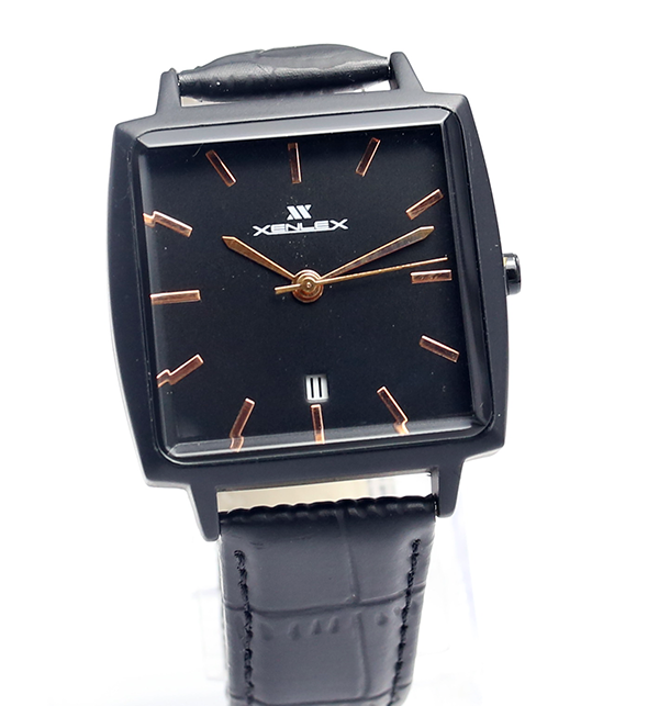 Original Xenlex Black Leather Straps Watch (CW-105) Price in Pakistan