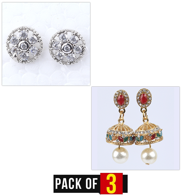 Pack OF 2 Artificial Earrings Design 2019 For girls - (Earrings Deal-03) Price in Pakistan