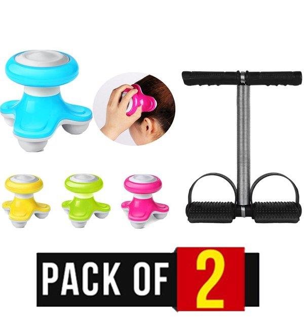 Pack of 2 - Electric Hand Body Massager & Tummy Trimmer Single Spring Price in Pakistan