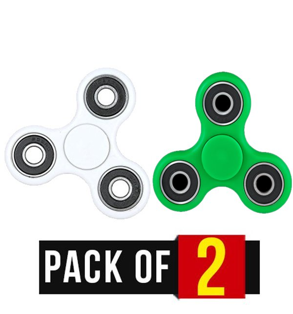 Pack of 2 Fidget Spinner Stress Reducer Toy - Three Sided Price in Pakistan
