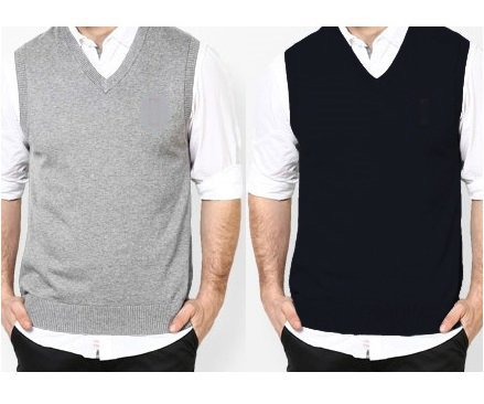Pack of 2 Sleeveless Sweaters (PLAIN)- FREE SHIPPING Price in Pakistan