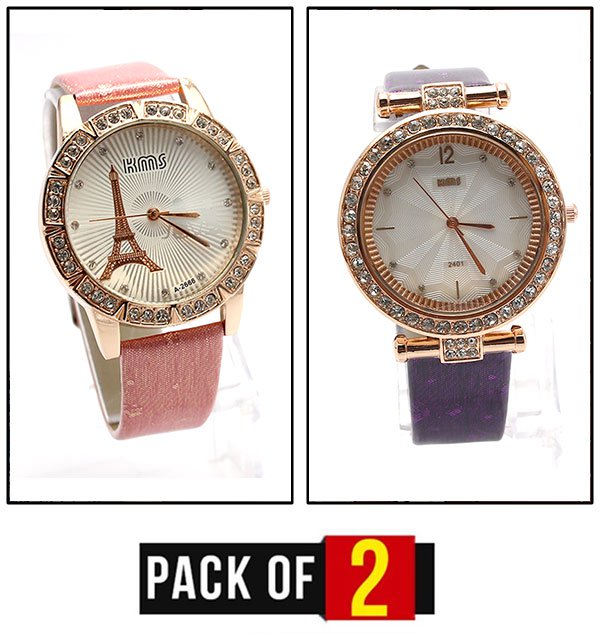 Pack OF 2 - Stylish Analogue Watches Deal For Women (CW-76) & (CW-75) Price in Pakistan
