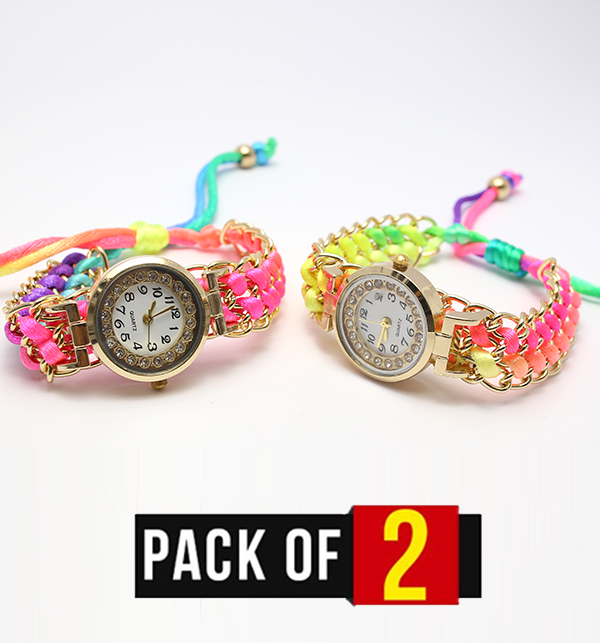 Pack OF 2 Stylish Women Watches (CW-93) & (CW-94) Price in Pakistan