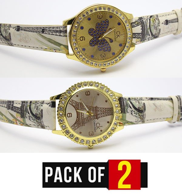 Pack OF 2 Women Watch Deal (CW-95) & (CW-96) Price in Pakistan