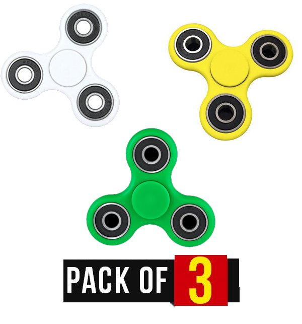 Pack of 3 - Fidget Spinner Stress Reducer Toy - Three Sided Price in Pakistan