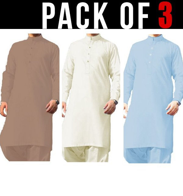 Pack of 3 - Wash n Wear Men