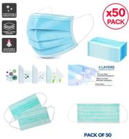 PACK OF 50 SURGICAL Face Mask 3ply With Nose Pin Price in Pakistan