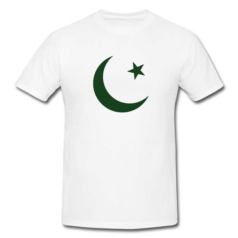 Pakistan Zindabad T-Shirt for Men (White) (ONLY DELIVER IN KARACHI) Price in Pakistan