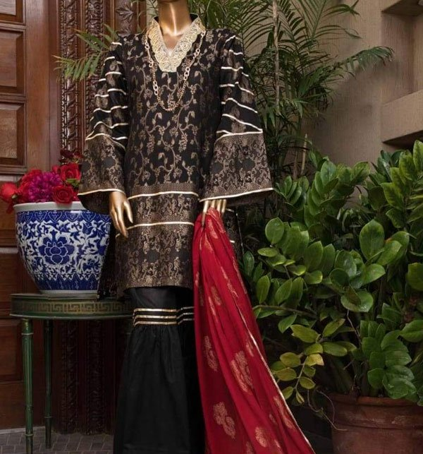 Jacquard Broshia Lawn Suit With Jacquard Dupatta (Unstitched) (JL-04) Price in Pakistan