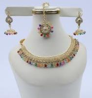 Polki Choker Jewellery Set - Multi (PS-116) Price in Pakistan