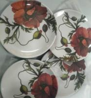 Printed Bamboo Coasters 6 Pieces Set (Square) Price in Pakistan