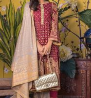 Banarsi Lawn Block Printed Collection 3 Pec Suit BY Z.S Textile (RBP-10) (Unstitched) Price in Pakistan