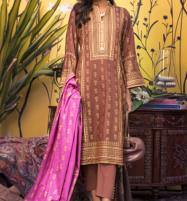 Banarsi Lawn Block Printed Collection 3 Pec Suit BY Z.S Textile (RBP-06) (Unstitched) Price in Pakistan