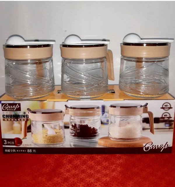 Set Glass Seasoning Bottle 300ml Price in Pakistan