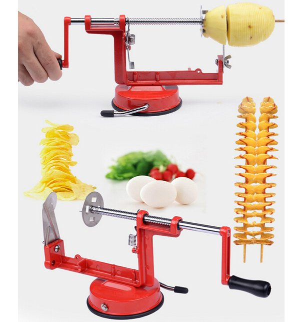 Spiral Potato Slicer Stainless Steel Potato French Fry Cutter Price in Pakistan