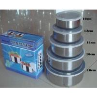 Stainless Steel Protect Fresh Box - 5Pcs - Silver Price in Pakistan