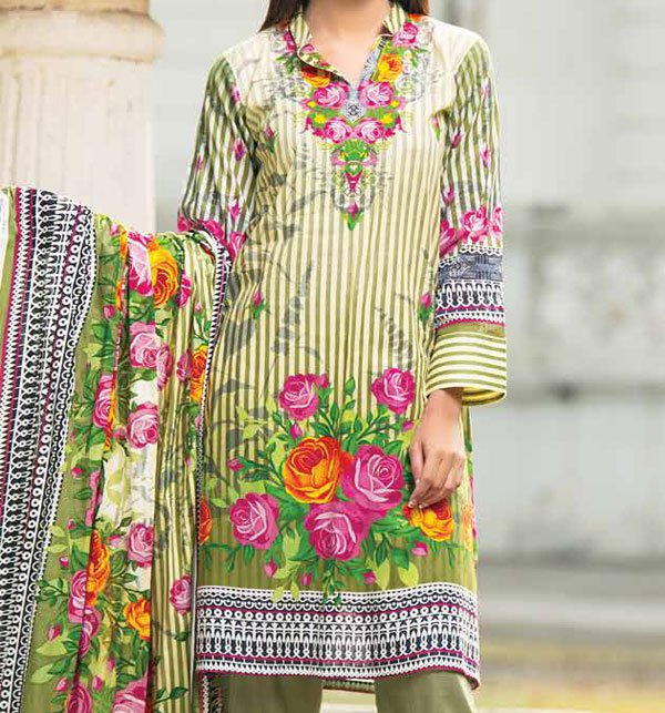 Star Lawn Suit With Lawn Duppata (SC-1010B) (Unstitched) Price in Pakistan