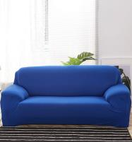 Stretch Fitted Sofa Cover - 7 Seater (3 + 2 + 1 + 1 Seater) Royal Blue Price in Pakistan