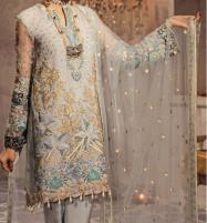 Stylish Net Embroidery Suit (CHI-259) (Unstitched) Price in Pakistan