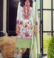 Summer Embroidered Lawn Suit 2020 With Chiffon  Duppata Unstitched (DRL-493) Price in Pakistan