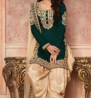 Summer Heavy Full Embroidery Cotton With Net Duppata UnStitched  (DRL-608) Price in Pakistan