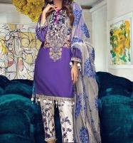 Summer Lawn Emboidery Suit With Chiffon Printed Duppata (DRL-481) (Unstitched) Price in Pakistan