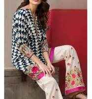 Trendy 2-Pcs Embroidered Lawn Dress 2020  (DRL-611) Price in Pakistan