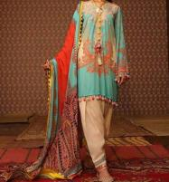 Embroidered Linen Dress with Wool Shawl Unstitched (LN-77) Price in Pakistan