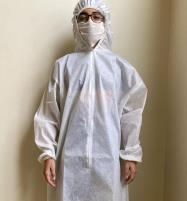 Virus Safety Gown with (Hoodie Cap) & MASK - Disposable Price in Pakistan