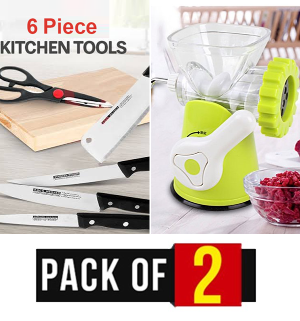 Weekend Sale Best Kitchen Knife Sets + Keema Machine Price in Pakistan