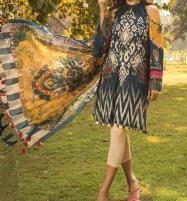 Winter Linen Embroidered Dress 2020 with Linen Dupatta  Unstitched -  (LN-129) Price in Pakistan