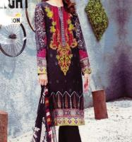 Black Linen Embroidered Suit with Wool Shawl Dupatta (LN-118) (UnStitched) Price in Pakistan